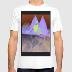 Skater SMALL White Mens Fitted Tee