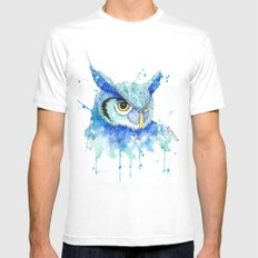 Color Hedwig  SMALL Mens Fitted Tee White