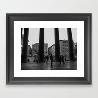 view from the pantheon Framed Art Print