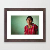 Tortilla de Mais Framed Art Print
