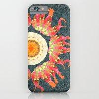 Elephants Parading in Roses Mandala iPhone 6 Slim Case