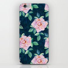 Simple Pink Rose Oil Painting Pattern iPhone & iPod Skin