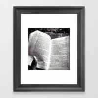 Quiet Book To MySelf Framed Art Print