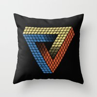 Penrose Puzzle Throw Pillow