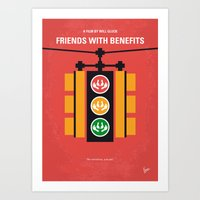 No629 My Friends with benefits minimal movie poster Art Print