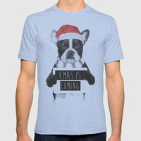 Xmas Is Coming Mens Fitted Tee Tri-Blue SMALL