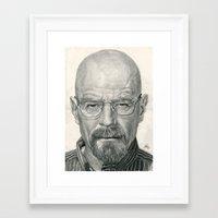 Bryan Cranston ~ Walter White ~ Breaking Bad Framed Art Print
