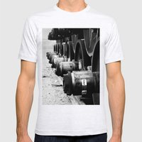 Rail Wheel Mens Fitted Tee Ash Grey SMALL