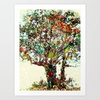 Tree Mosaic Art Print