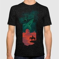 Final Frontiersman Mens Fitted Tee Tri-Black SMALL