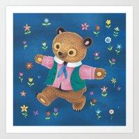 Little Bear And The Flow… Art Print