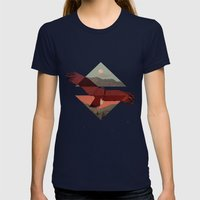 HAWKING Womens Fitted Tee Navy SMALL