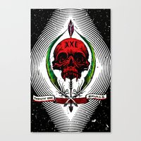 XXI Skulls Poster  Canvas Print