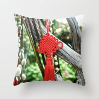 Chinese Knot (Red) Throw Pillow