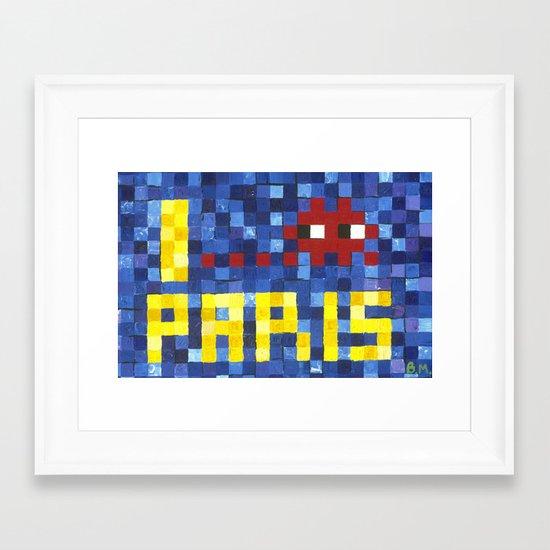 I Space Invader Paris Framed Art Print