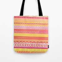 Tribal#1 (Orange/Pink/Ye… Tote Bag