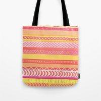 Tribal#1 (Orange/Pink/Ye… Tote Bag