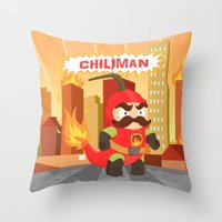 Chiliman Throw Pillow