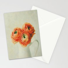 Orange Ranunculus Textured  Stationery Cards