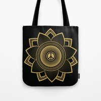 Peace Lotus Tote Bag