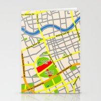 Shanghai Map Design Stationery Cards