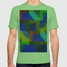 Colorful Truth. Blue. Mens Fitted Tee Grass SMALL