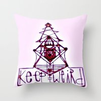 Keep it Weird Throw Pillow