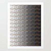 Pattern #6 Greyscale Art Print