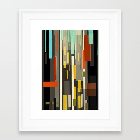 Straight Up New York Framed Art Print