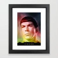 Spock Framed Art Print