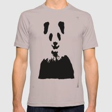 Pandas Blend into White Backgrounds Mens Fitted Tee Cinder SMALL