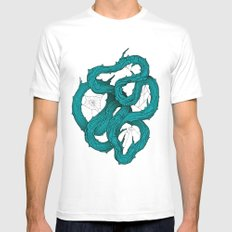 wood knot Mens Fitted Tee SMALL White