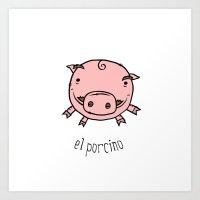 El Porcino Art Print