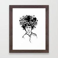 Exploding Head Framed Art Print