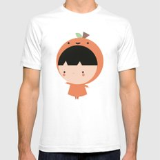 Cute Pumpkin Mens Fitted Tee White SMALL