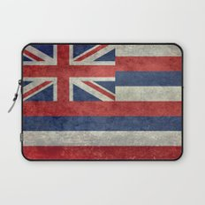 The State flag of Hawaii - Vintage version Laptop Sleeve
