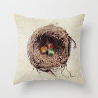 Yoshi Eggs Throw Pillow