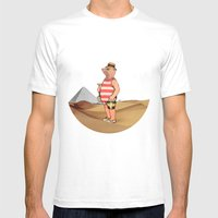 Sandcastles Mens Fitted Tee White SMALL