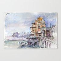 Castello sul mare Canvas Print