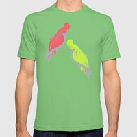 Pale Parrots Mens Fitted Tee Grass SMALL