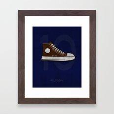 Minimal Ten Framed Art Print