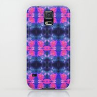 Galaxy S5 Cases featuring tie dye sunsets blue by Mackenzie Leigh