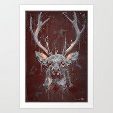 DARK DEER Art Print