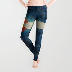 Colorado State Flag Vintage Grunge Leggings