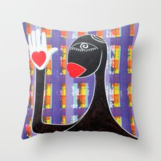 MAMMA AFRICA-CUORE IN MANO Throw Pillow