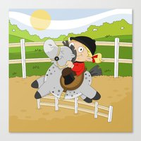 Olympic Sports: Equestri… Canvas Print