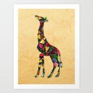 Animal Mosaic - The Gira… Art Print