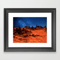 Mars And Stars Framed Art Print