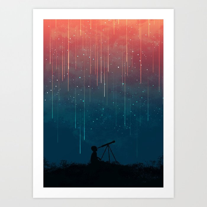 Sunday's Society6 - Meteor rain art print