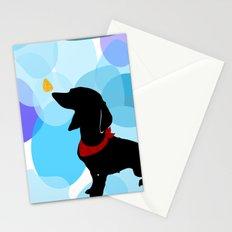 Dachshund Dog Art Print Stationery Cards